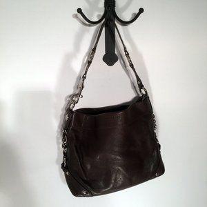 Coach Chocolate Brown Pebble Leather Hobo Bag
